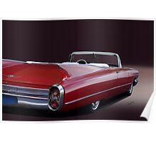 1960 Cadillac Convertible Poster