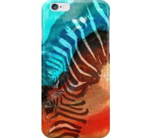 Zebra Love - Art By Sharon Cummings iPhone Case/Skin