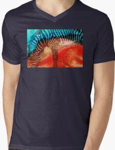Zebra Love - Art By Sharon Cummings Mens V-Neck T-Shirt