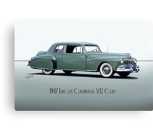 1947 Lincoln Continental V12 Coupe Canvas Print