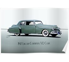 1947 Lincoln Continental V12 Coupe Poster