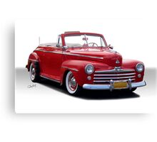 1947 Ford Deluxe Convertible Coupe Canvas Print
