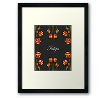 Badge of Honour Tulip Print Framed Print