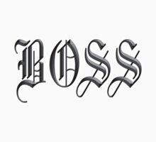 Boss, in Olde English! The BOSS, CEO, Chief, In Charge Kids Clothes