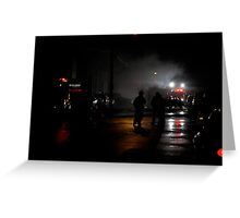 Police, fire and ambulance Greeting Card