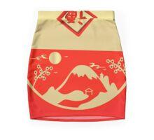 Lucky Mount Fuji under the moon Mini Skirt