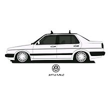 Volkswagen Jetta II Side Photographic Print