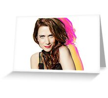 Kristen Wiig SNL Portrait Greeting Card