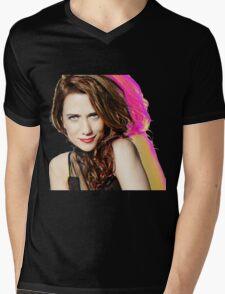 Kristen Wiig SNL Portrait Mens V-Neck T-Shirt