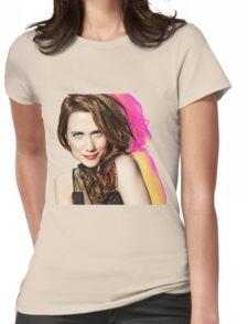 Kristen Wiig SNL Portrait Womens Fitted T-Shirt