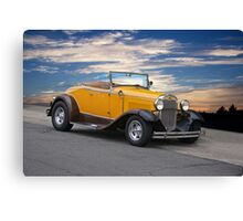 1930 Ford Model A 'Rumble Seat' Roadster Canvas Print