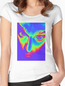 CRAZY EYES Women's Fitted Scoop T-Shirt