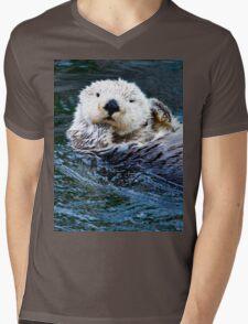 Sea Otter Mens V-Neck T-Shirt