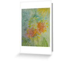 Moving Foliage Watercolour Painting Greeting Card