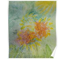 Moving Foliage Watercolour Painting Poster