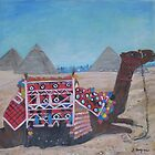 The pyramids of Gyza, Egypt by Teresa Dominici