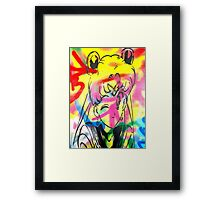 Graffiti Sailor Moon Framed Print
