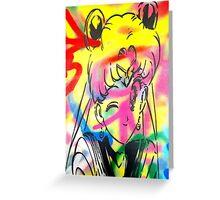 Graffiti Sailor Moon Greeting Card