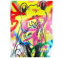 Graffiti Sailor Moon Poster