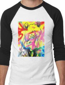 Graffiti Sailor Moon Men's Baseball ¾ T-Shirt