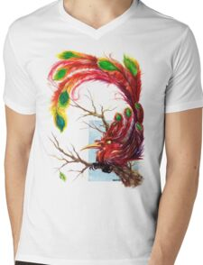 Little Phoenix Mens V-Neck T-Shirt