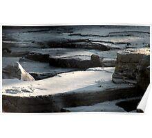 Avalanche Creek Limestone (Glacier Park) Poster