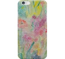 Poppy In A Meadow Watercolour Painting iPhone Case/Skin