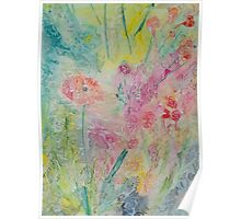 Poppy In A Meadow Watercolour Painting Poster
