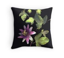 Passion Flower Vine Throw Pillow