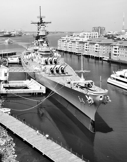 USS Wisconsin by Joel Hall