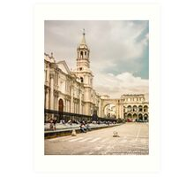 Main Cathedral of Arequipa Side View Art Print