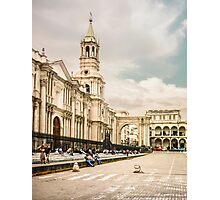 Main Cathedral of Arequipa Side View Photographic Print