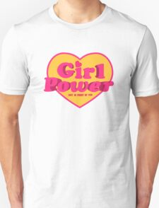 Girl Power Heart Shaped Typographic Design Quote T-Shirt