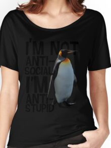 Mr. Penguin Women's Relaxed Fit T-Shirt