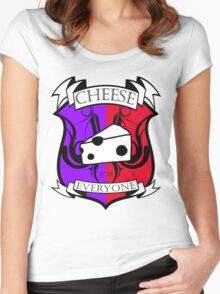 Cheese for everyone! Women's Fitted Scoop T-Shirt