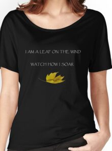 Leaf on the Wind (Dark) Women's Relaxed Fit T-Shirt