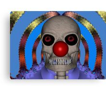 Skeleton Clown Canvas Print