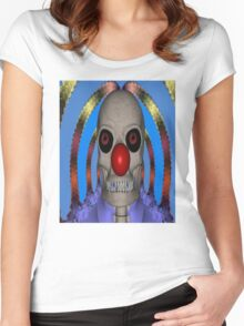 Skeleton Clown Women's Fitted Scoop T-Shirt