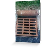 Funny Water Drain Greeting Card