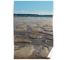 Crazy Paving In The Sand Poster