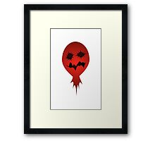 Evil Face Vector Illustration Framed Print