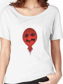 Evil Face Vector Illustration Women's Relaxed Fit T-Shirt