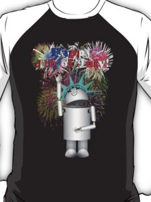 Lady Liberty Robo-x9  Celebrates Independence T-Shirt