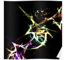 Futuristic Abstract Dance Shapes Artwork Poster