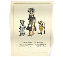 Marigold Garden Pictures and Rhymes Kate Grenaway 1900 0015 We Went Out With Grandma Poster