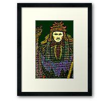 HIEROPHANT TAROT CARD INSPIRED DESIGN BY LIZ LOZ Framed Print