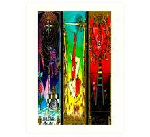THREEFOLD OF ARCANA BY LIZ LOZ Art Print