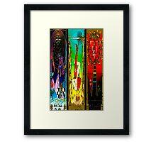 THREEFOLD OF ARCANA BY LIZ LOZ Framed Print
