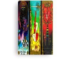 THREEFOLD OF ARCANA BY LIZ LOZ Metal Print