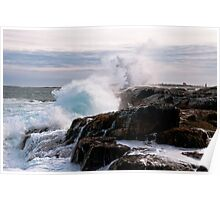 Nor' Easter on Ocean Point, Maine Poster